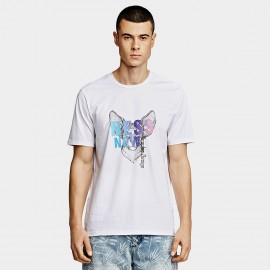 KUEGOU Colourful White Tee (LT-1779)