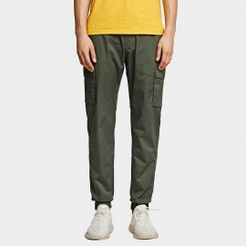 KUEGOU Comfy Green Pants (UK-09350)
