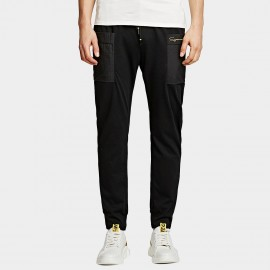 KUEGOU Signature Black Pants (UK-09354)