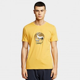 KUEGOU Deer Yellow Tee (UT-09325)