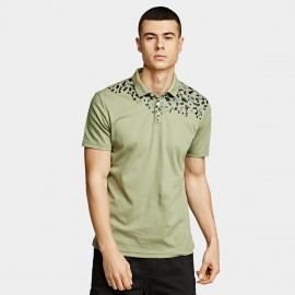 KUEGOU Leaves Green Polo Shirt (UT-09331)