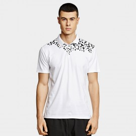 KUEGOU Leaves White Polo Shirt (UT-09331)