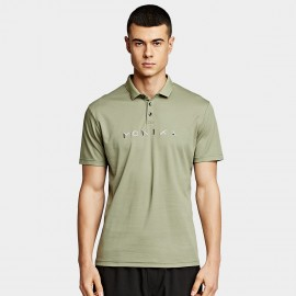 KUEGOU Elastic Green Polo Shirt (UT-09332)