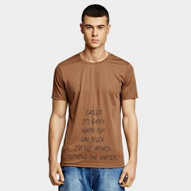 KUEGOU Confident Brown Tee (UT-09340)