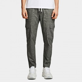 KUEGOU Slim Fit Grey Pants (YK-1912)