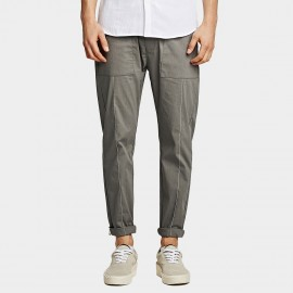 KUEGOU Diagonal Grey Pants (YK-1939)