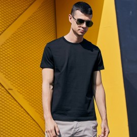 KUEGOU Plain Black Tee (ZT-396)