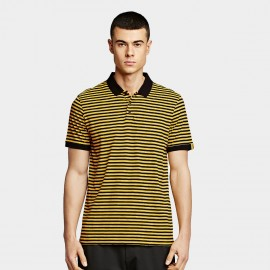 KUEGOU Stripe Yellow Polo Shirt (PT-1271)