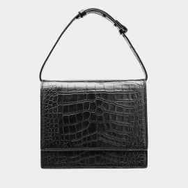Cilela Reptile Flapover Black Top Handle (CK-001225)