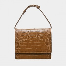 Cilela Reptile Flapover Brown Top Handle (CK-001225)