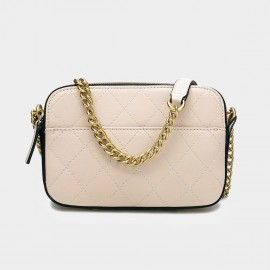 Cilela Large Chain Quilted Apricot Shoulder Bag (CK-001226L)