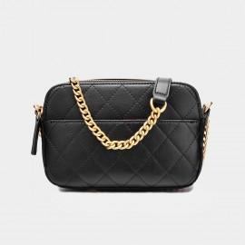 Cilela Small Chain Quilted Black Shoulder Bag (CK-001226S)