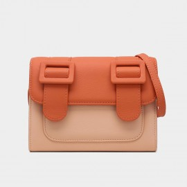 Cilela Youthful Double Strap Orange Shoulder Bag (CK-002010)
