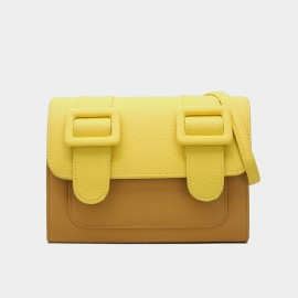 Cilela Youthful Double Strap Yellow Shoulder Bag (CK-002010)