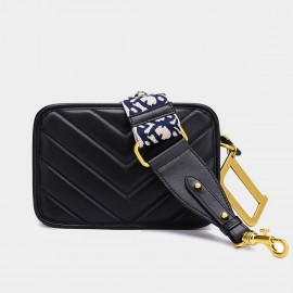 Cilela Basic Quilted Black Shoulder Bag (CK-002012)
