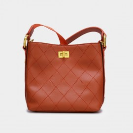 Cilela Simple Quilted Red Tote (CK-002016)