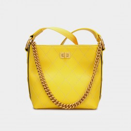 Cilela Simple Quilted Yellow Tote (CK-002016)