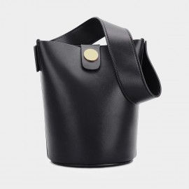 Cilela Bucket Leather Black Shoulder Bag (CK-0817)