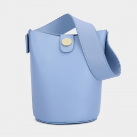 Cilela Bucket Leather Blue Shoulder Bag (CK-0817)