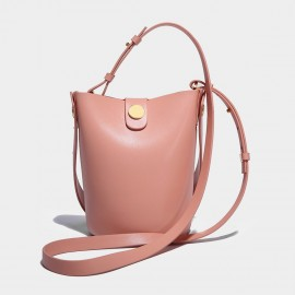 Cilela Bucket Leather Pink Shoulder Bag (CK-0817)