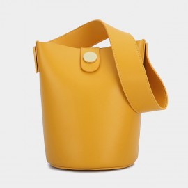 Cilela Bucket Leather Orange Shoulder Bag (CK-0817)