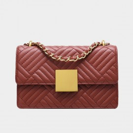 Cilela Classic Quilted Red Shoulder Bag (EY31901)