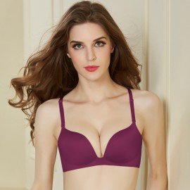 Olanfen Elegant Silky Moisture-Wicking Detachable Wine Bra (OLF096108)