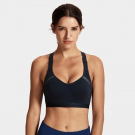 Syrokan high impact black underwire sports bra (A231)