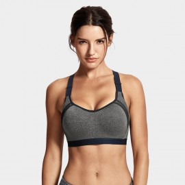 Syrokan high impact charcoal underwire sports bra (A231)