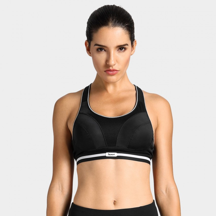 Syrokan bounce reducing black sports bra (A250)