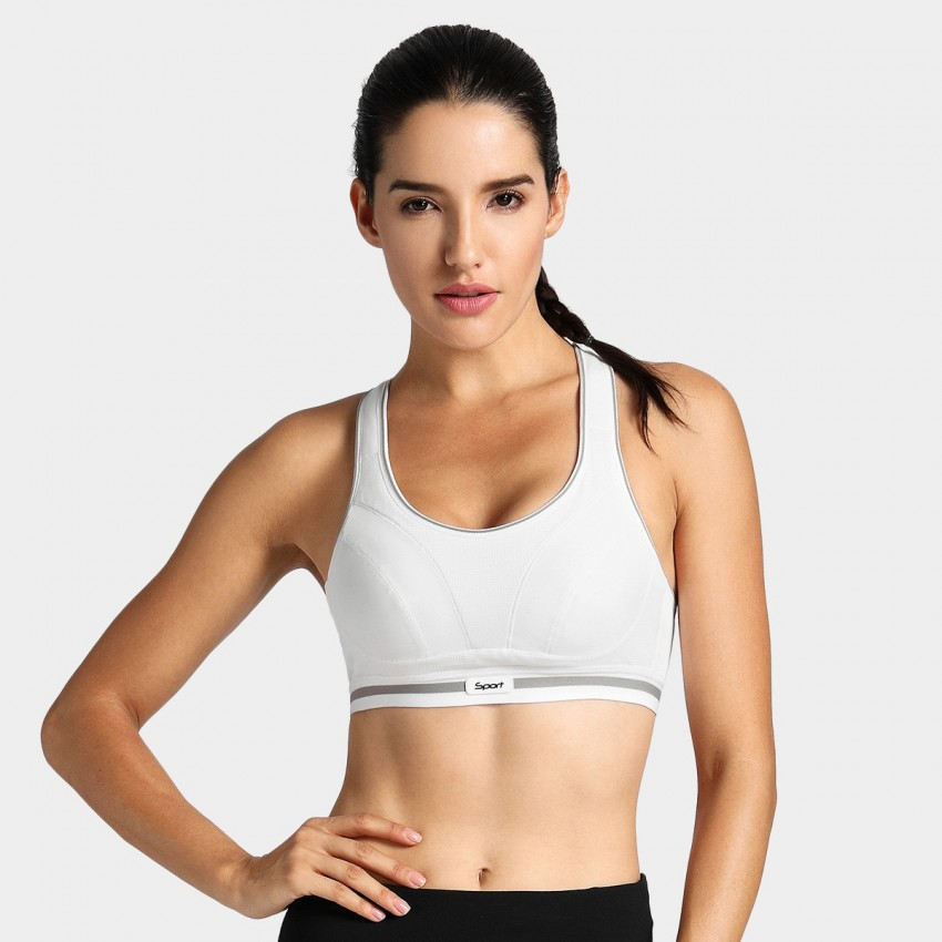 Syrokan bounce reducing white sports bra (A250)