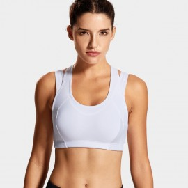 Syrokan double strap white sports bra (A280)