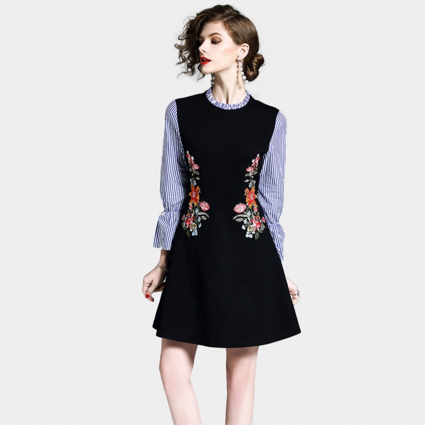 Buy D & R Black A-line Dress online, shop D & R with free shipping