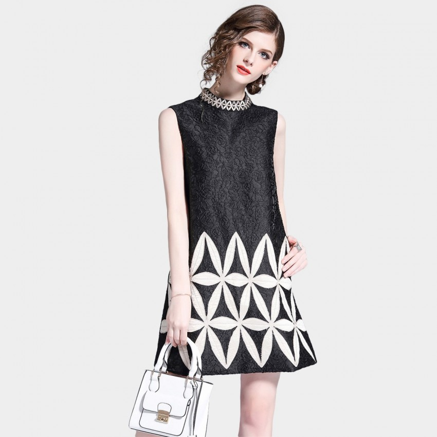 Buy D & R Black and White Shift Dress online, shop D & R with free shipping