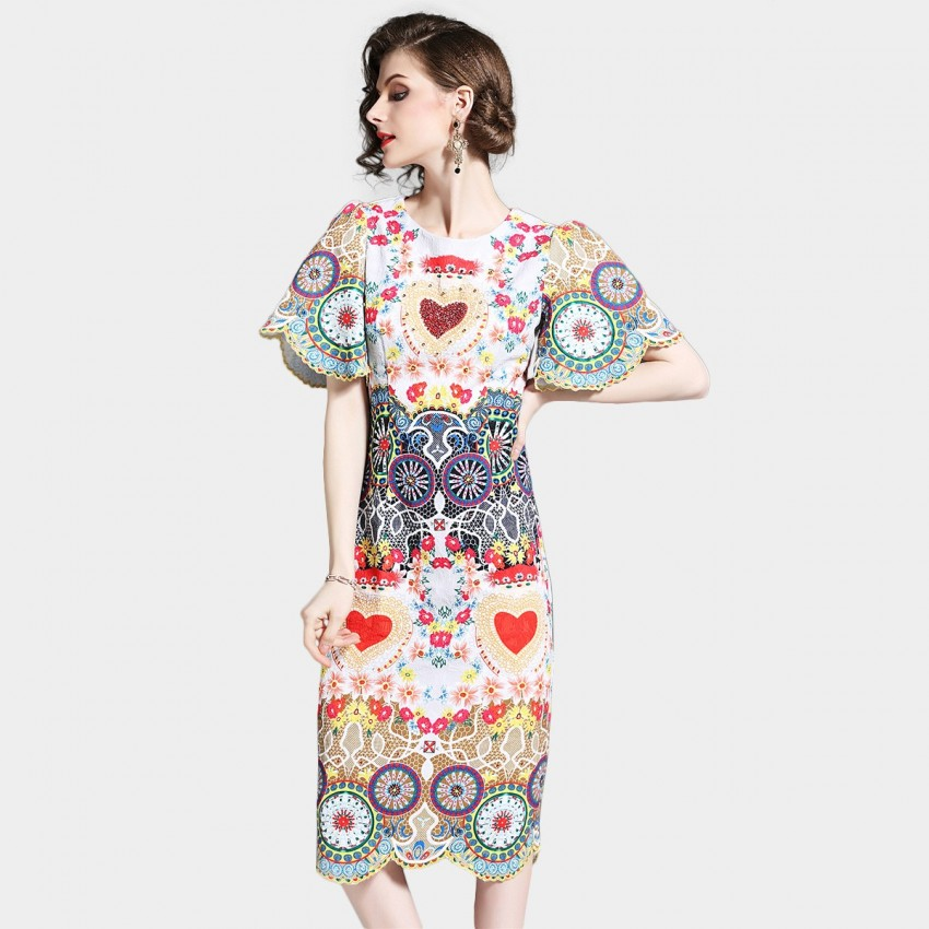 Buy D & R Bright Floral Dress online, shop D & R with free shipping