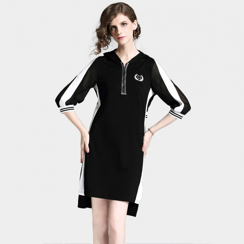 Buy D & R Black Zip Dress online, shop D & R with free shipping