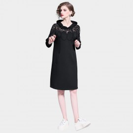 D&R Hooded Black Dress (6405)