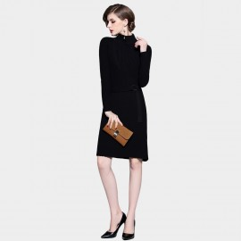 D&R Black Sweater Dress (6412)