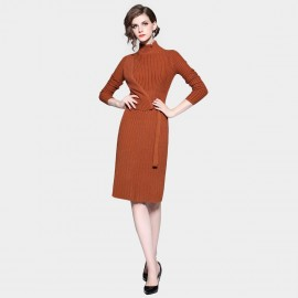 D&R Brown Sweater Dress (6412)