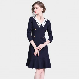 D&R Navy Sailor Dress (6415)