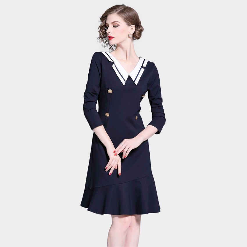 Buy D & R Navy Sailor Dress online, shop D & R with free shipping