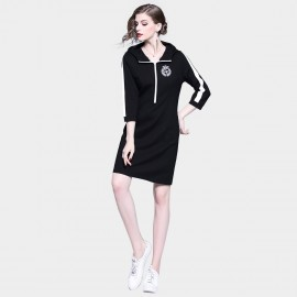 D&R Sporty Black Dress (6418)