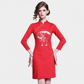 D&R Red Fan Dress (6430)