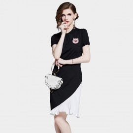 D&R Black Polo Dress (6454)