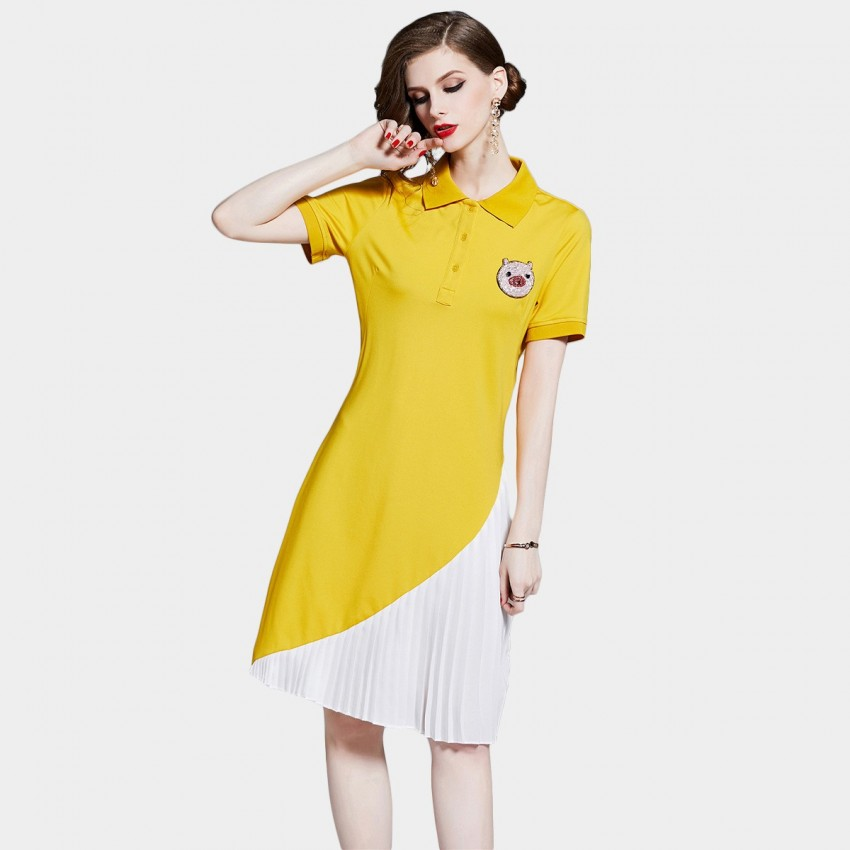 D&R Yellow Polo Dress (6454)