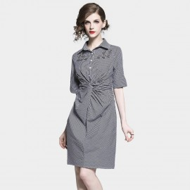 D&R Black Check Shirt Dress (6477)