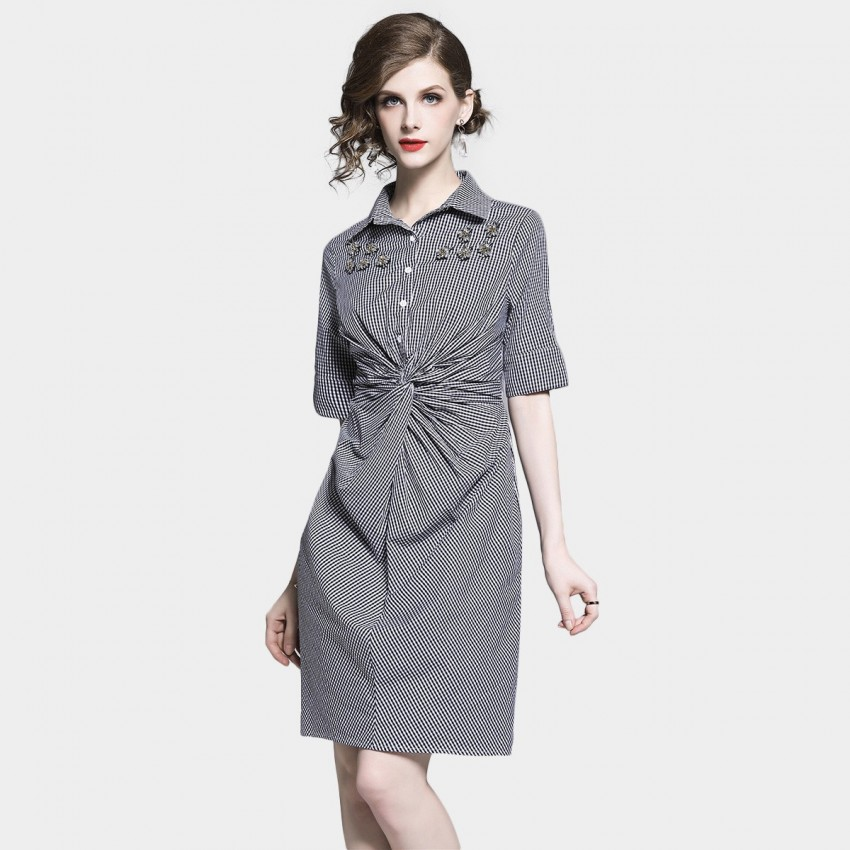 Buy D & R Red Check Shirt Dress online, shop D & R with free shipping