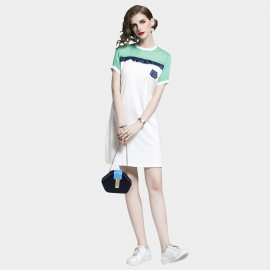 D&R Sporty Green Tee Dress (6478)