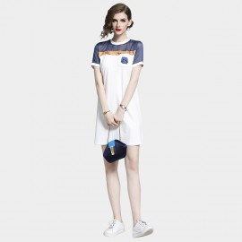 D&R Sporty Navy Tee Dress (6478)