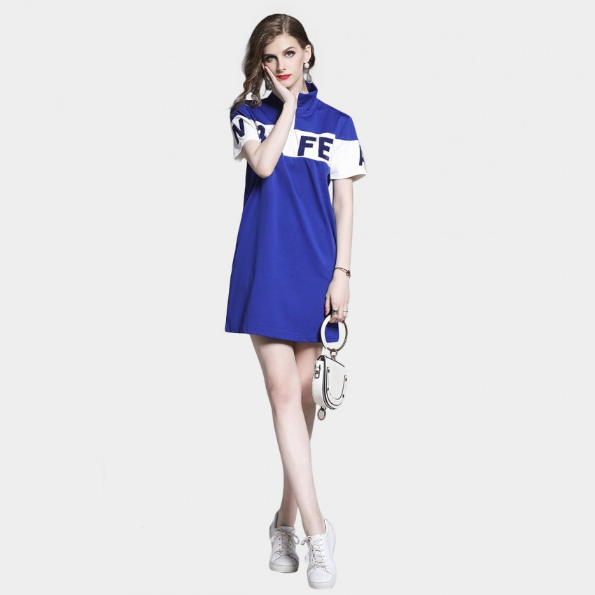 Buy D & R Red Half Zip Dress online, shop D & R with free shipping